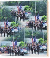 New York State Police Color Guard  1 Wood Print