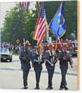 New York State Police Color Guard  5 Wood Print
