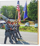 New York State Police Color Guard  6 Wood Print