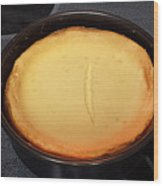 New York Style Cheesecake Wood Print