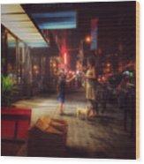 New York Summer Nights Wood Print
