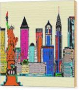 New York - The Big City Wood Print