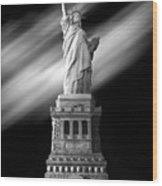 New York Time Wood Print