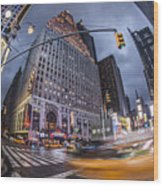 New York Time Square  Wood Print