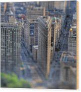 New York Toy Story - Flatiron Building Wood Print