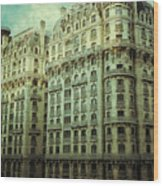 New York Upper West Side Apartment Building Wood Print