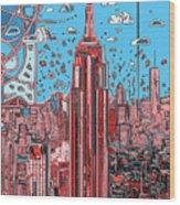 New York Urban Colors 2 Wood Print