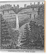 New York: Waterfall Wood Print