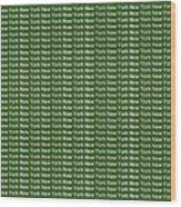 New York - White On Green Background Wood Print