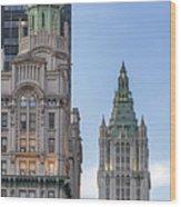 New York Woolworth Building  Wood Print