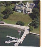 New York Yacht Club Harbour Court 5 Halidon Avenue Newport Ri 02840 3815 Wood Print