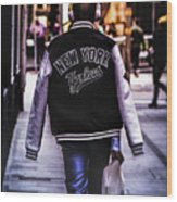 New York Yankees Baseball Jacket Wood Print