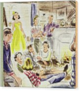New Yorker January 7, 1950 Wood Print