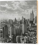 New Your City Skyline Wood Print