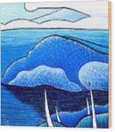 New Zealand Bay Wood Print
