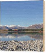 New Zealand Lake Wood Print