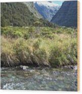 New Zealand Landscape 2 Wood Print
