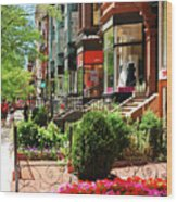 Newberry Street Spring Wood Print
