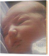 Newborn Baby Wood Print