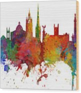 Newcastle England Skyline Custom Panoramic Wood Print