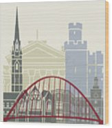 Newcastle Skyline Poster Wood Print