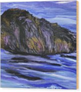 Newfoundland Oil Painting Wood Print