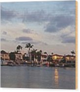 Newport Beach Bay Wood Print