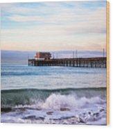 Newport Beach Ca Pier At Sunrise Wood Print