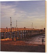 Newport Beach Glow Wood Print