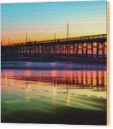 Newport Beach Pier At Sunrise Wood Print