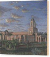 Newport Beach Temple Wood Print by Jeff Brimley