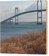 Newport Bridge Newport Rhode Island Wood Print