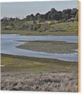 Newport Estuary Looking Across At Visitors Center  Wood Print