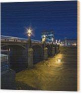 Newport Night Bridge  Wood Print