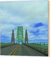 Newport Oregon Bridge Wood Print