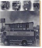 Newport Oregon Fire Department Drill - Practice Fire Drills Wood Print