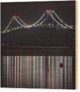 Newport Pell Bridge Wood Print