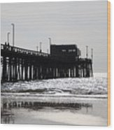Newport Pier Wood Print