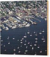 Newport R I Aerial View Wood Print