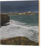 Newquay Squalls On Horizon Wood Print