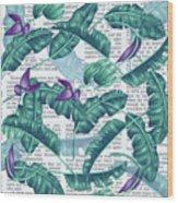News Of Tropical  Wood Print