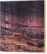 Newspaper Rock Wood Print