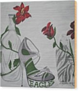 Nfl Eagles Stiletto Wood Print
