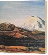 Ngauruhoe Rising Wood Print