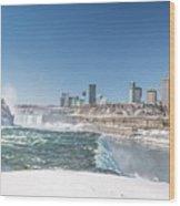 Niagara And Canada Wood Print