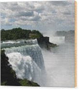 Niagara Falls American And Canadian Horseshoe Falls Wood Print