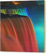 Niagara Falls At Night Wood Print