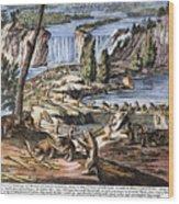 Niagara Falls: Beavers, 1715 Wood Print