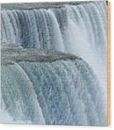 Niagara Falls Closeup Charcoal Effect Wood Print