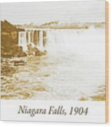 Niagara Falls Ferry Boat, 1904, Vintage Photograph Wood Print